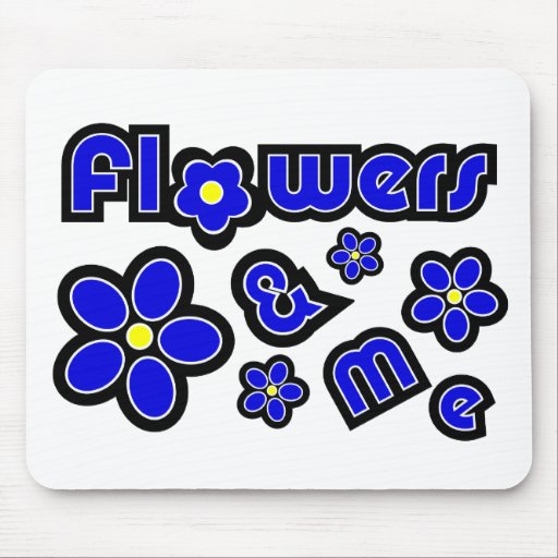 Flowers & Me Mouse Pad