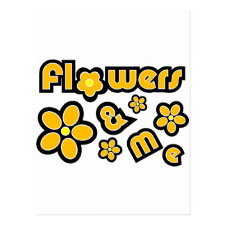 Flowers & Me Postcard