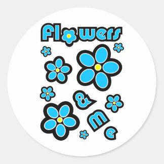 Flowers & Me Round Sticker