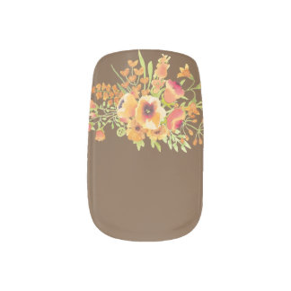 Flowers Minx Nail Art, Single Design per Hand Minx Nail Art
