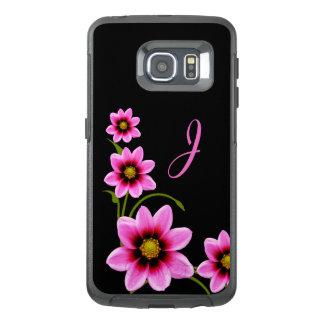 Flowers Monogrammed Otterbox Samsung S6 Edge Case