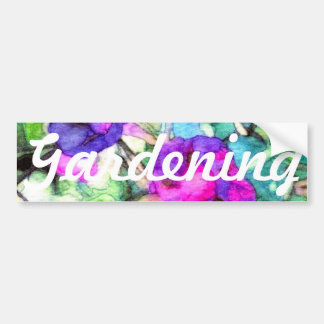 Flowers Morning Glories Gardening Art CricketDiane Bumper Sticker
