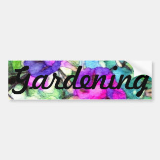 Flowers Morning Glories Gardening CricketDiane Bumper Sticker