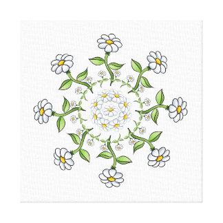 Flowers mosaic canvas print