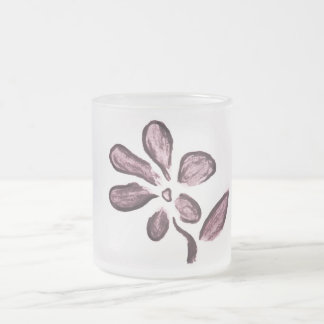 Flowers Frosted Glass Mug
