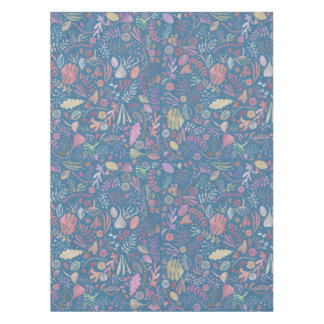 Flowers multicoloured smooth watercolors tablecloth