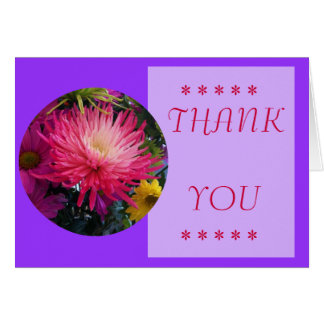 Flowers Mums Thank You Card