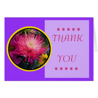 Flowers Mums Thank You Card 2