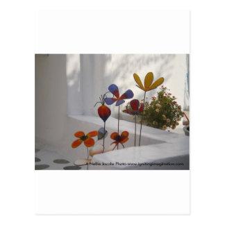 Flowers-Mykonos, Greece Postcards