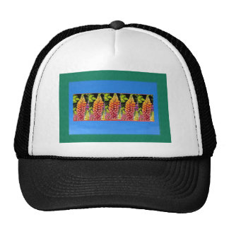 Flowers n decorative painted stripes add text IMG Mesh Hat