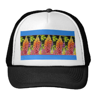 Flowers n decorative painted stripes add text IMG Trucker Hats