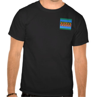 Flowers n decorative painted stripes add text IMG Tee Shirt