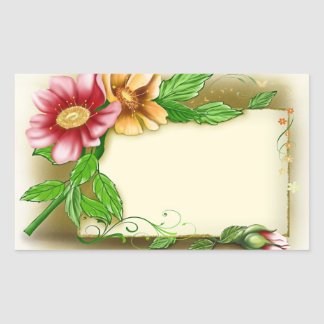 Flowers Name Tag