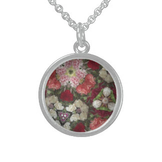 flowers sterling silver necklace