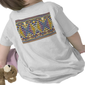 Flowers Oasis Waves Patterns graphic Art on Shirts