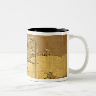 Flowers of Camellias Two-Tone Coffee Mug