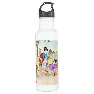 Flowers of Floating World, Viewing a Peony Garden 710 Ml Water Bottle