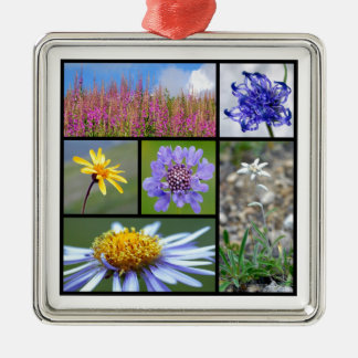 flowers of French Alps Christmas Ornaments