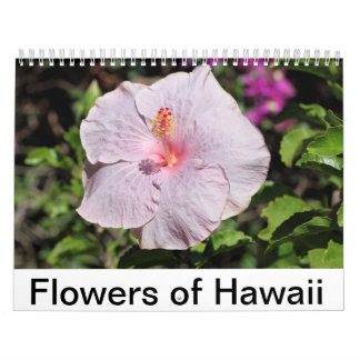 Flowers of Hawaii Calendar