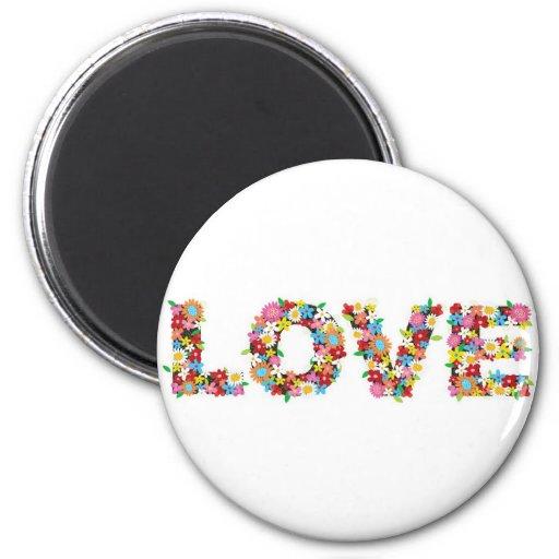 flowers of love fridge magnets