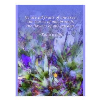 Flowers of One Garden Baha i Postcard