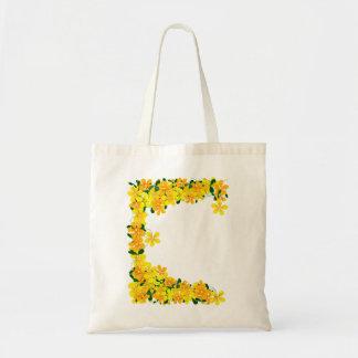 Flowers of Orange & Yellow Border Tote Bag