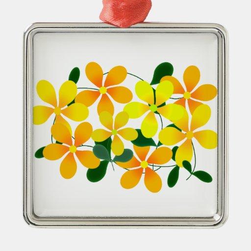 Flowers of Orange & Yellow Ornament
