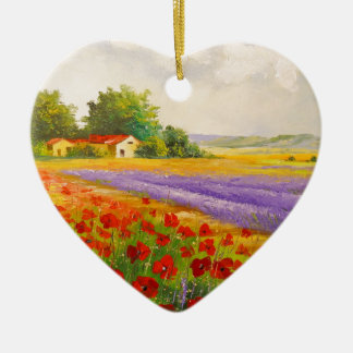 Flowers of Provence Christmas Ornament