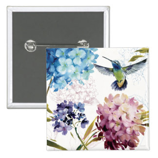 Flowers of Spring 15 Cm Square Badge