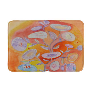 flowers of summer bath mat