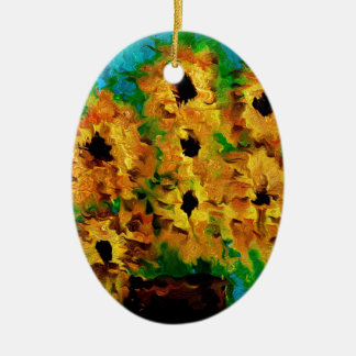 Flowers of summer christmas ornament