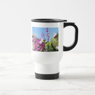 Flowers of the Purple Pod, 2 Stainless Steel Travel Mug