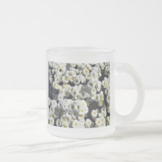 Flowers of White Frosted Glass Mug
