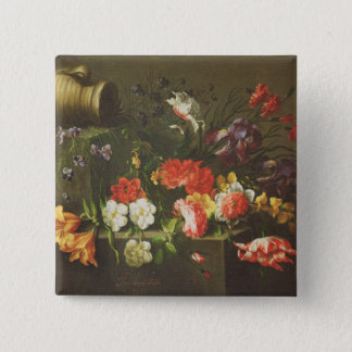 Flowers on a Ledge, 1665 15 Cm Square Badge