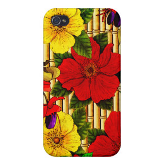 Flowers On Bamboo iPhone 4/4S Cases