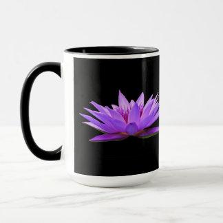 Flowers On Black Mug