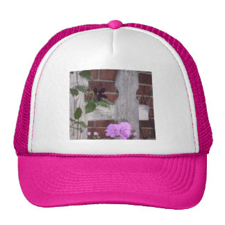 Flowers on Fence Mesh Hat