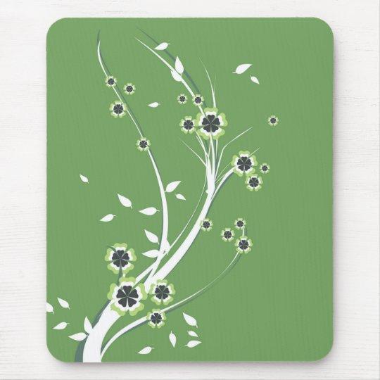 Flowers on Green - Mousepad