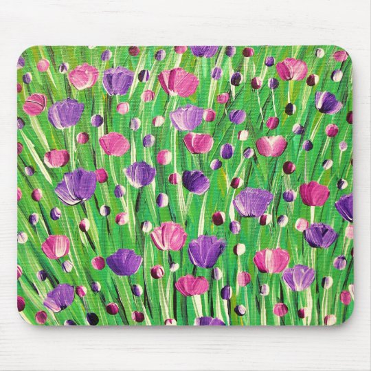 Flowers On Parade Mouse Mat