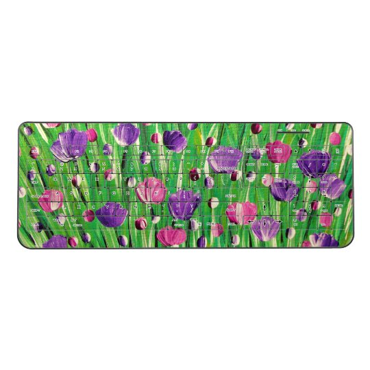 Flowers On Parade Wireless Keyboard