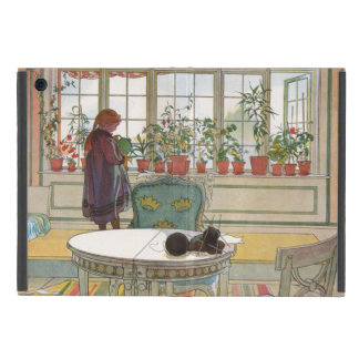 Flowers on the Windowsill by Carl Larsson iPad Mini Cover