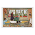 Flowers on the Windowsill by Carl Larsson Poster