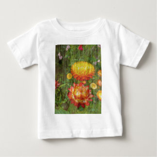 Flowers On Wood. Baby T-Shirt