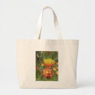 Flowers On Wood. Large Tote Bag
