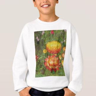 Flowers On Wood. Sweatshirt
