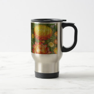 Flowers On Wood. Travel Mug