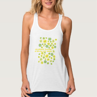 flowers or yellow and green tank top