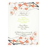 Flowers orange lime green bridal shower invitation