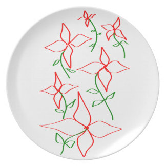 Flowers Party Plate
