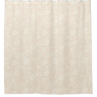 Flowers pastell cream pattern + your ideas shower curtain